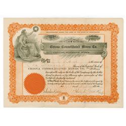 Chisna Consolidated Mines Co., 1907 (Alaska Location) Share Certificate