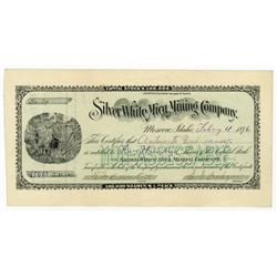 Silver White Mica Mining Co., 1896 Stock Certificate.