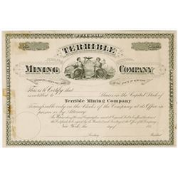 Terrible Mining Co., ca.1880-1890 Proof Stock Certificate