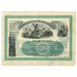 Cross-Cut Silver Mining Co. of Cleveland, 1894 Stock Certificate.