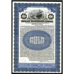 Rockland Transportation Co. 1922 Specimen Bond.