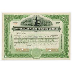 Guffey Gillespie Gas Products Co., ca.1910-1920 Specimen Stock Certificate