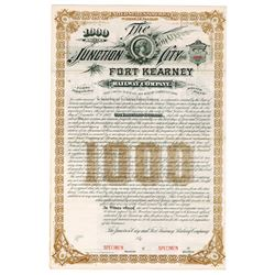 Junction City and Fort Kearney Railway Co., 1884 Specimen Bond