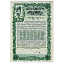 Kansas City Western Railway Co., 1905 Specimen Bond