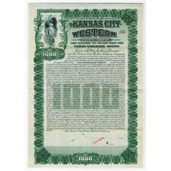 Kansas City Western Railway Co., 1905 Specimen Bond