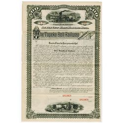 Topeka Belt Railway, 1888 Specimen Bond