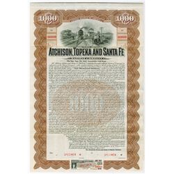 Atchison, Topeka and Santa Fe Railway Co., 1905 Specimen Bond