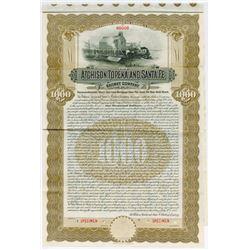 Atchison, Topeka and Santa Fe Railway Co., 1908 Specimen Bond