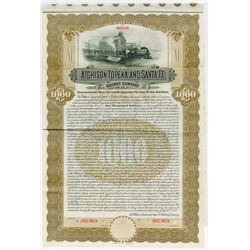 Atchison, Topeka and Santa Fe Railway Co., 1908 Specimen Bond