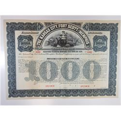 Kansa City, Fort Scott and Memphis Railway Co., 1901 Specimen Bond