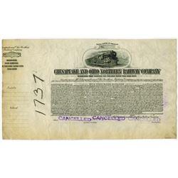 Chesapeake and Ohio Northern Railway Co., ca.1910-1920 Proof Bond