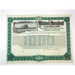 Western Maryland Rail Road Co., ca.1920-1930 Specimen Bond