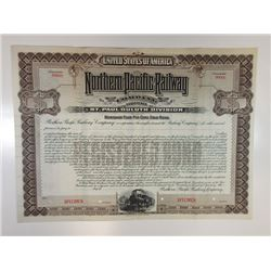 Northern Pacific Railway Co. - St. Paul-Duluth Division, 1900 Specimen Bond