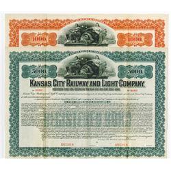 Kansas City Railway and Light Co. 1903, Pair of Specimen Bond