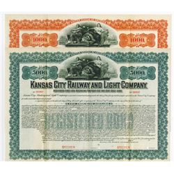 Kansas City Railway and Light Co. 1903, Pair of Specimen Bond