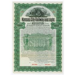 Kansas City Railway and Light Co., 1903 Specimen Bond