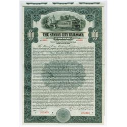 Kansas City Railways Co.,1915 $100 Specimen Bond