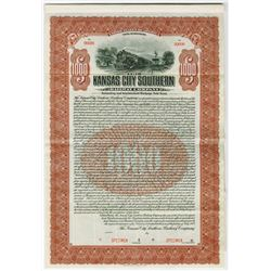 Kansas City Southern Railway Co., 1909 Specimen Bond
