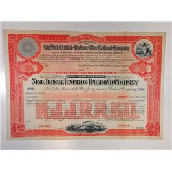 New Jersey Junction Railroad Co., 1880 (1900 Issue) Specimen Bond