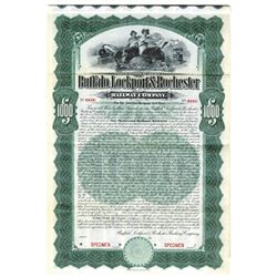 Buffalo, Lockport and Rochester Railway Co., 1904 Specimen Bond