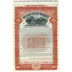 Coney Island and Brooklyn Railroad Co.1904 Specimen Gold Bond.