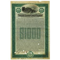 General Railway Signal Co., 1924 Specimen Bond