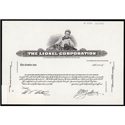 Lionel Corporation 1961 Proof Stock Certificate.
