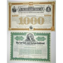 Pair of Railroad Cancelled Bonds Signed by William K. Vanderbilt