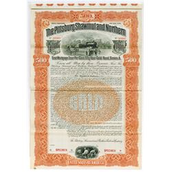 Pittsburgh, Shawmut & Northern Railroad Co., 1902 Specimen Bond