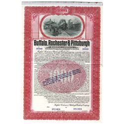 Buffalo, Rochester and Pittsburgh Railway Co., 1907 Specimen Bond
