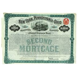 New York, Pennsylvania, and Ohio Railroad Co, 1880 Issued Bond