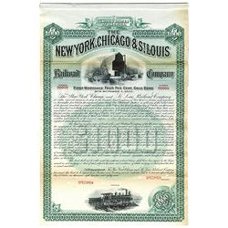 New York, Chicago and St. Louis Railroad Co., 1887 Specimen Bond