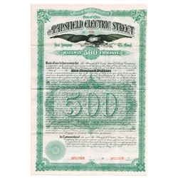 Mansfield Electric Street Railway Co., 1887 Specimen Bond