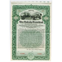 Toledo Terminal Railroad Co. 1907 Specimen Bond