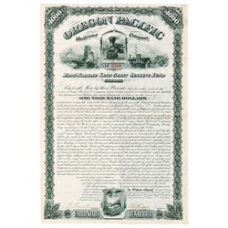 Oregon Pacific Railroad Co. 1880 Issued Bond
