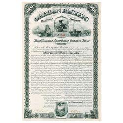Oregon Pacific Railroad Co. 1880 Issued Bond