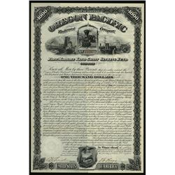 Oregon Pacific Railroad Co. 1880 Issued Bond.