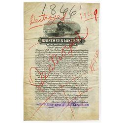 Bessemer & Lake Erie Railroad Co., 1916 Proof Bond