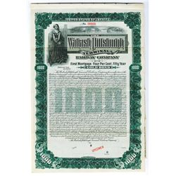 Wabash Pittsburgh Terminal Railway Co., 1904 $1000 Specimen Bond