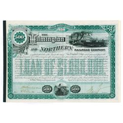 Wilmington and Northern Railroad Co., 1887 Cancelled Bond Signed by Henry A. du Pont