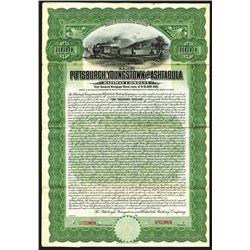 Pittsburgh, Youngstown and Ashtabula Railway Co., 1908, $1000 Specimen Bond.