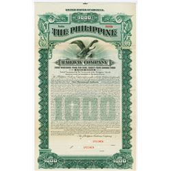 Philippine Railway Co. 1907 Specimen Bond.