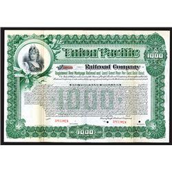 Union Pacific Railroad Co., 1897 Specimen Registered Bond.