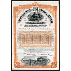 Washington and Columbia River Railway Co. 1896 Specimen Bond.