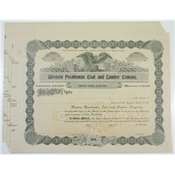 Western Pocahontas Coal and Lumber Co., ca.1900-1910 Group of Unissued Stock Certificates