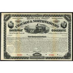 Chicago and Northwestern Railway Company 1879 Specimen Bond