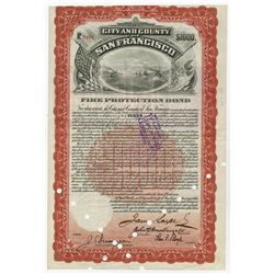"""City and County of San Francisco, 1908  (Issued 1912) I/C """"Fire Protection"""" Bond."""
