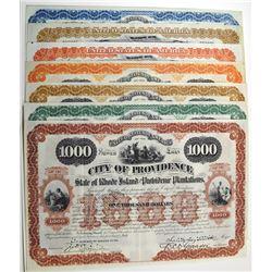 City of Providence. 1891 Bond Assortment.