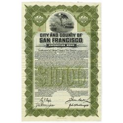 City and County of San Francisco, 1912 Panama-Pacific Exposition Bond