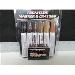 New set of Furniture Touch up Markers & Crayons / 12 piece set